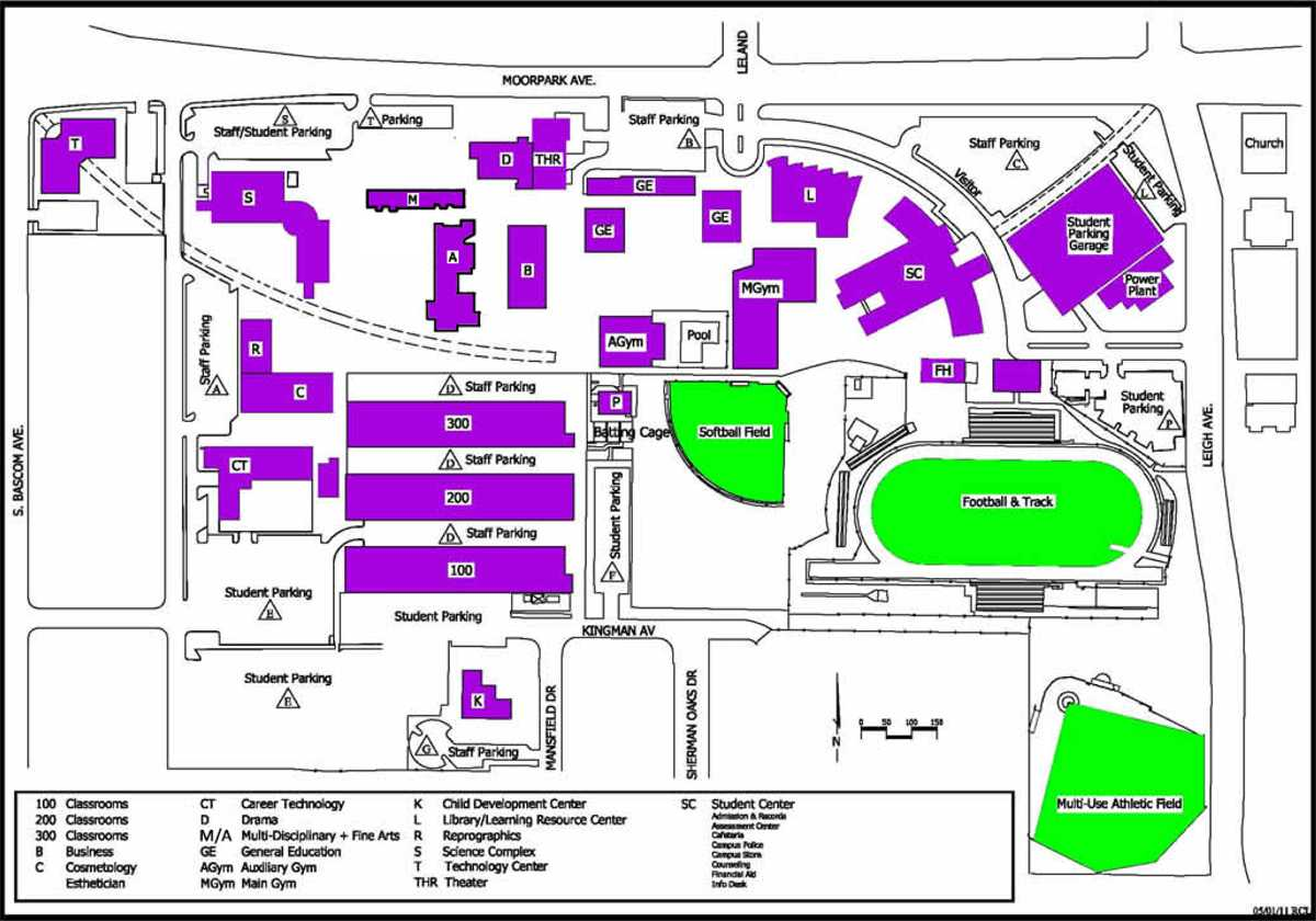 Campus map City College Times