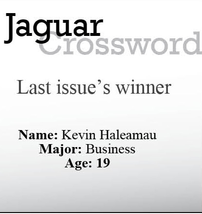 Jaguar Crossword