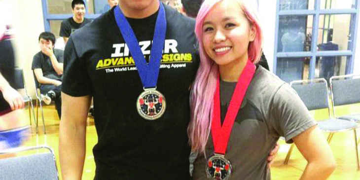 Weightlifting Alex Nguyen and sister(CMYK)