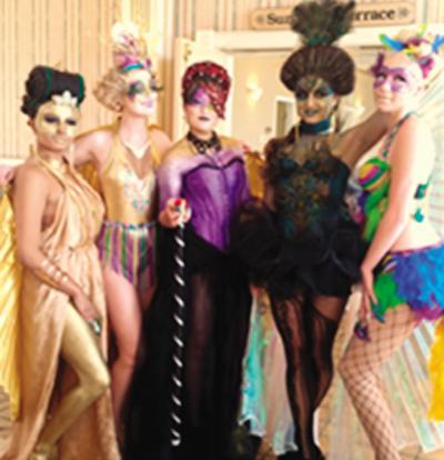 From left, Teresa Garrett, Sarah Millsap, Anna Martin, Alyssa Krauter and Seryna Anderson.