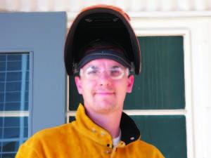 Welding student Robert Almdida