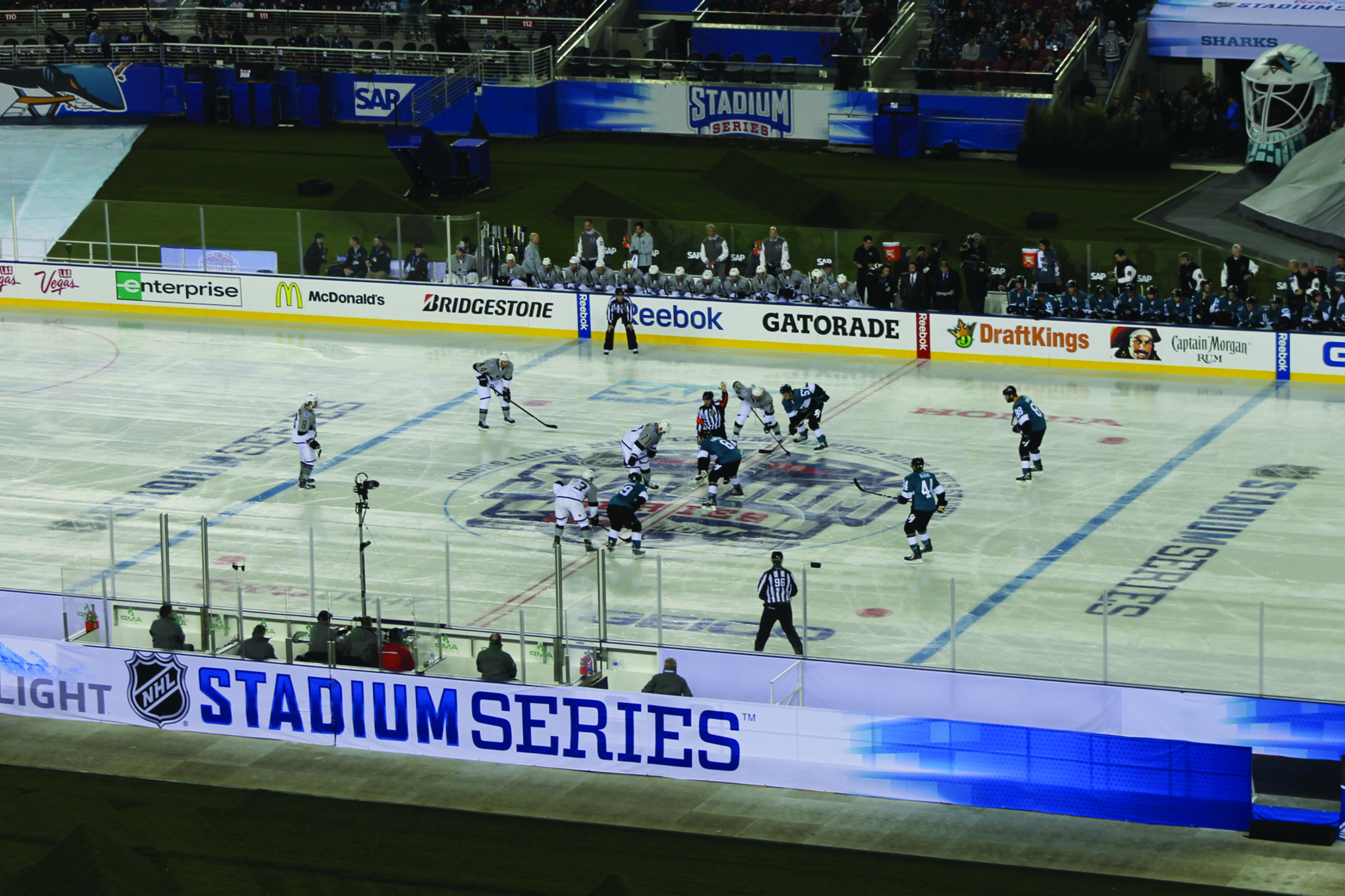 Sharks vs. Kings outdoors at Levi