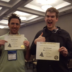 David Xavieal and Alex martinet brought home awards from JACC on March 17 In Burbank, Calif
