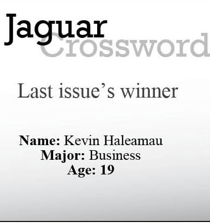 Jaguar Crossword