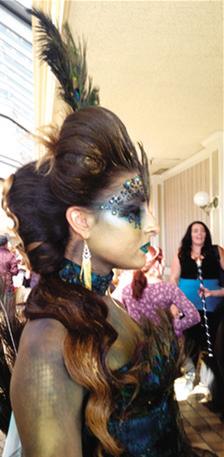 Alyssa Krauter in costume, front.