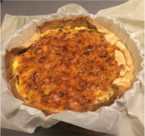 The finished product: Quiche Lorraine right from the oven.