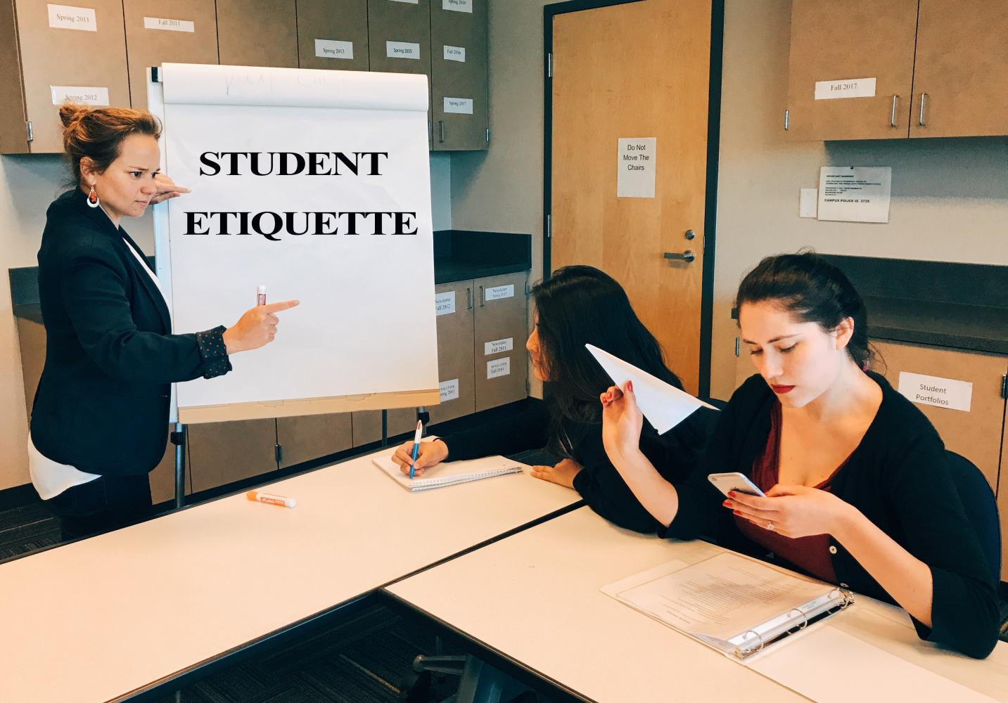 Etiquette is important in the classroom: texting is disrespectful for both the instructor and the classmates.
