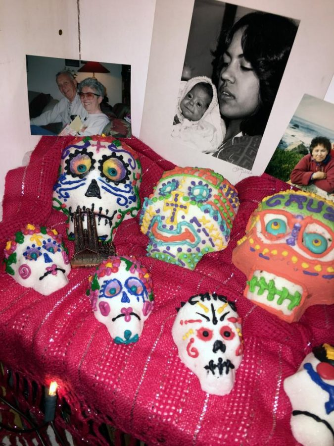 Families+create+%22ofrendas%2C%22+or+altars%2C+at+home+or+on+gravesites+where+they+places+%22calaveras%2C%22+or+sugar+skulls%2C+food+and+drink%2C+and+other+mementos+to+honor+the+lives+of+loved+ones+who+have+passed+away.+