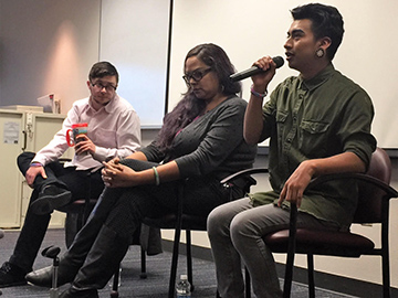 Former and current students speak at transgender awareness event