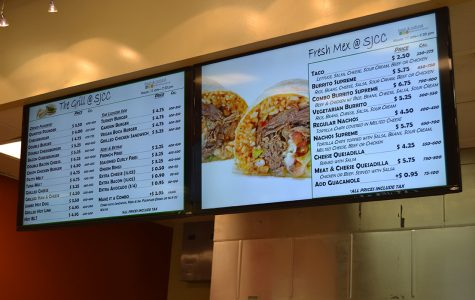 Some grill and Mexican food options available at the Fresh and Natural in SJCC's cafeteria.
