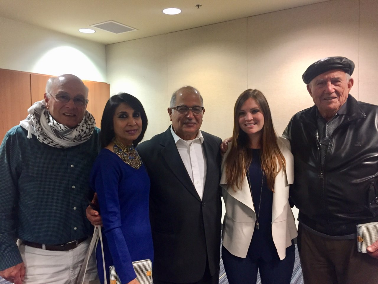 From left: MEHC speakers Douglas Bailey, Roohi Vora, Sami A. Ibrahim, Natasha Ibrahim and Eusataquio Navarro-Cortez pose for a photo at SJCC on April 11.