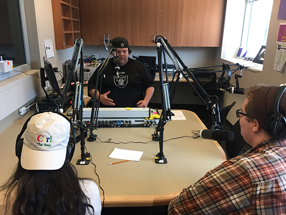 SJCC DJ Big Nick interviews journalism students