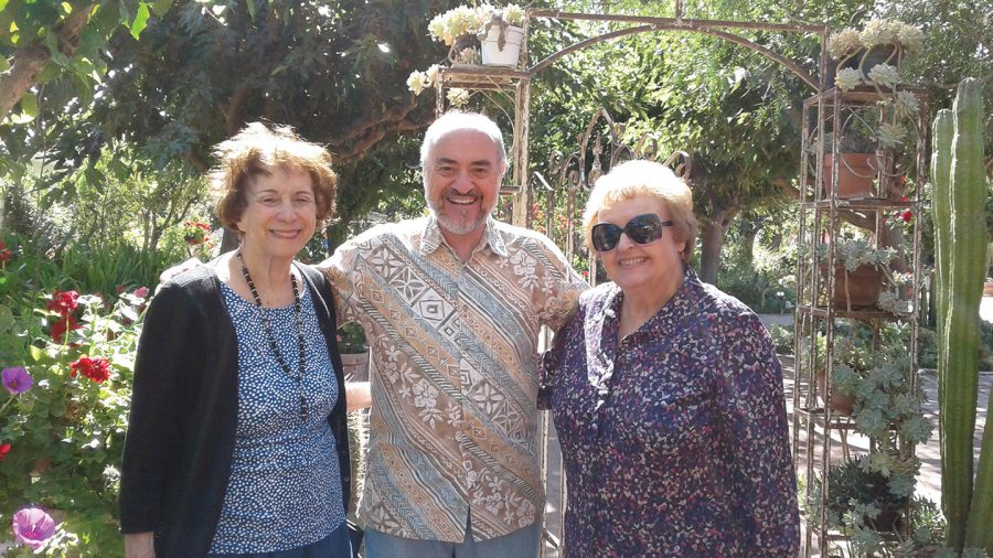 Virginia Scales, left, with Ron Levesque and Alice Gosak.