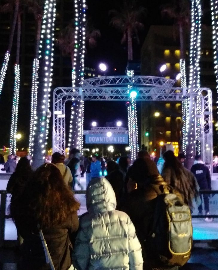 Ice skating in Downtown San Jose
