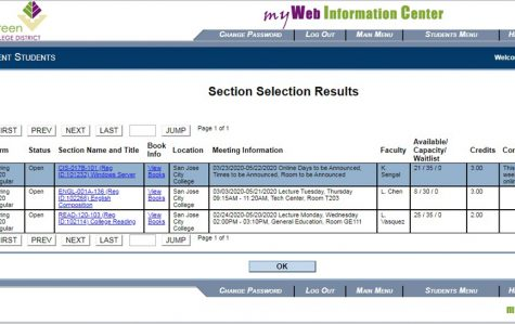 SJCC students can log in to MyWeb from the SJCC.edu homepage to search for late start courses.