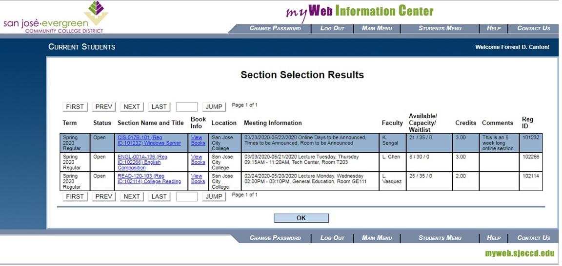 myweb sjcc