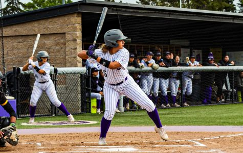 Outfielder Kyra Garcia takes a swing at the SJCC vs. Cabrillo College game.