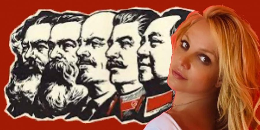 Britney+Spears+is+shown+edited+into+a+graphic+with+socialists+%28from+left%29+Karl+Marx%2C+Friedrich+Engels%2C+Vladimir+Lenin%2C+Joseph+Stalin+and+Mao+Zedong.