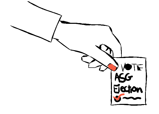 ASG elections for 2021 will be held May 11 and May 12 online. Students may vote by visiting the ASG website and following the links to Balloteer.