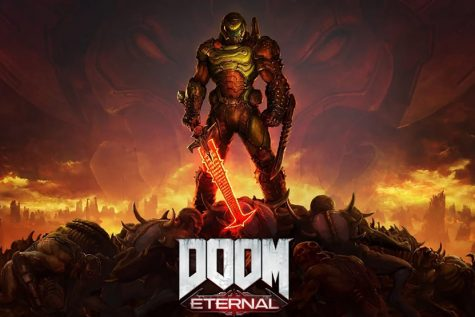 "The Slayer blasts through assorted monsters in the latest iteration of the Doom franchise, ""Doom Eternal."""