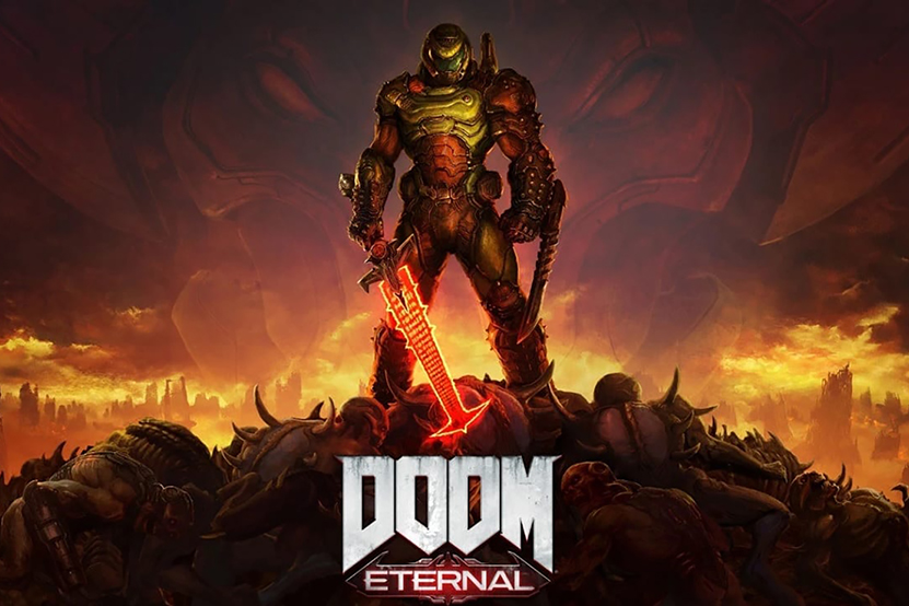 The+Slayer+blasts+through+assorted+monsters+in+the+latest+iteration+of+the+Doom+franchise%2C+%22Doom+Eternal.%22