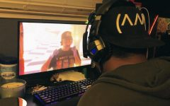Andrew Bonnit watches Valentino Khan's DJ set at Insomniac's Hard Summer Virtual Rave-A-Thon on April 5.