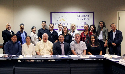 Academic Senate gathers for a group photo September 1, 2015