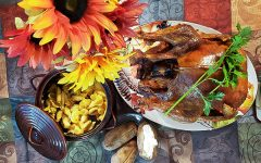Thanksgiving dinner setting at Times Staff member Dung Tran's house on Nov. 26.