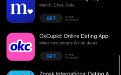 A screenshot of several dating apps that are available in the Apple App Store