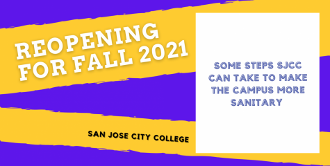 How can SJCC make campus more sanitary for the reopening?