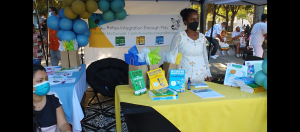 Business owner Kokeb Mc Donald showcases her business Reflex Integrations Through Play, an education series that helps children learn through play and reflexes.