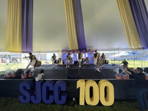 San Jose Taiko Performs on Sept. 18 during the SJCC centennial community celebration.