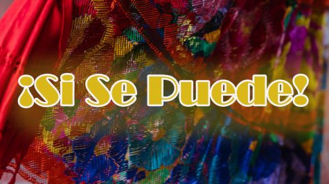 Forclorico dress, a traditional attire from Mexico. Si Se Puede translates to Yes, You Can.